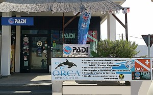 Padi Istruttore orca diving center ingresso
